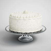 CGAxis 3D Model Decorated White Cake 11